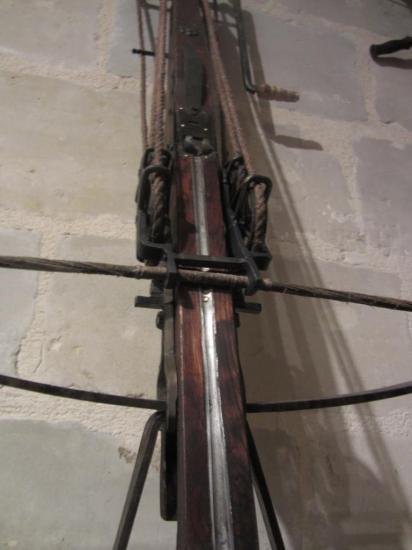 Arbalète à moufle finitions poussées / Option: Glissière en acier